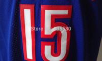 Toronto 15 Vince Carter Basketball Jersey, Cheap Brand Mesh Embroidery Logo Vince Carter Jersey - Front Purple Back Black