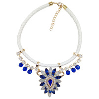New 2014  design fashion women jewelry wholesale necklace & pendant chunky rope chain choker statement necklace for women