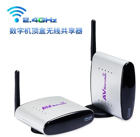 New 2.4GHz Wireless AV Audio Video Sender Transmitter Receiver 150M Audio Video Share Av/Tv Pal/Ntsc PT220 Free shipping(China (Mainland))