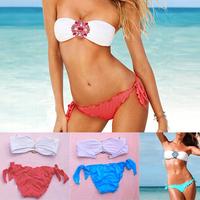 New 2014 Fashion Sexy High Quality Women bikini set Swimwear hot sales push up crystal Diamond Swimsuit BK005