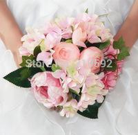 Hand Tied Bouquet Wedding Decor Rose Flower, Wedding Bridal Flower, Wedding Articial Flower, Rose Simulation flowers