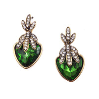 Free shipping New 2014 hot sell Trend women fashion crystal design party statement crystal stud Earrings for women