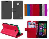 Lumia 630 Case, Luxury Wallet Leather Case for Nokia Lumia 630 With Credit Card Holder 2014 New Mobile Phone Case + Touch Stylus