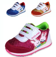 2014 spring shoes fresh casual single shoes genuine leather sport shoes kids sneakers girls boys running shoes