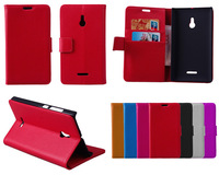 For Nokia XL Case, Luxury Wallet Leather Case for Nokia XL With Credit Card Holder 2014 New Mobile Phone Cases + Touch Stylus