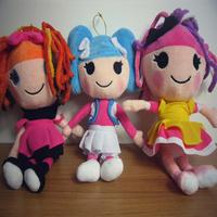 3pcs/lot Lalaloopsy Plush Dolls 25cm Size Lalaloopsy  Girls Fashion Dolls Toys Gift Toys