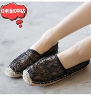 Free shipping,2014 Women girls new fashion Lace glitter cut outs low heels shoes flats, 3 colors ,Euro 40