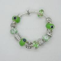 PH065 Alibaba Hot Sell Fish Charm Chamilia Bracelet Bangle 925 Silver Murano Glass For Women Fashion European Style Jewelry
