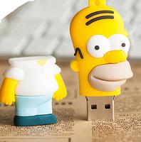 2014 New Hot Sale Stock Usb 2.0 Homer Jay. Simpson Usb flash drive 8g/16g/32g cartoon usb flash drive personalized gift