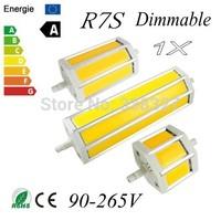 1X Dimmable COB LED R7S led lamp 5W 10W 15W LED R7s Light of LED COB R7s Lamp AC90-265V Free shipping