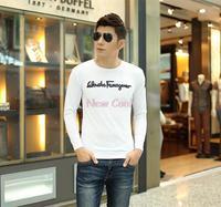 Hot Men's T-shirt factory direct popular men's wild Korean English sleeved T-shirt