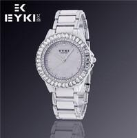 Hot Sale New Fashion EYKI Jewelry Luxury Brand Watches Woman Business Casual Rhinestones Analog Quartz Watch W8423G
