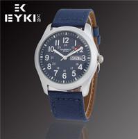EYKI Fashion New Retro Army Watches Jewelry Luxury Brand Men Calendar Business Casual Military Analog Leather Quartz Watch