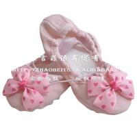 Dedicated wearproof children's dance shoes Bow girls ballet shoes practice women dancing shoes pink color