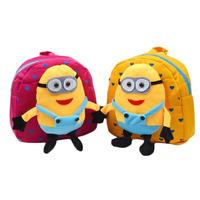 yellow bags Children small yellow man cartoon SchoolBag kids Backpacks casual Shoulder Bags For child girls boys kids school bag