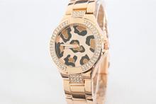Hot Selling Fashion GSS Brand Leopard Dial dress watch Luxury Rhinistone women wrist watch with logo