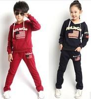 2014 new autumn children clothes set Baby boy & girl sport out wear set  Unisex child clothing autumn jacket +pants
