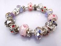 Hot!Free Shipping wholesale 925 Sterling Silver jewelry charms bracelet silver bracelet. crystal beads bracelet  Pp017