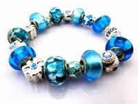 Hot!Free Shipping wholesale 925 Sterling Silver jewelry charms bracelet silver bracelet. crystal beads bracelet  Pp013