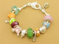 Hot!Free Shipping wholesale 925 Sterling Silver jewelry charms bracelet silver bracelet. crystal beads bracelet  Pp066
