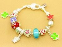 Hot!Free Shipping wholesale 925 Sterling Silver jewelry charms bracelet silver bracelet. crystal beads bracelet  Pp042
