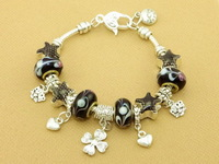 Hot!Free Shipping wholesale 925 Sterling Silver jewelry charms bracelet silver bracelet. crystal beads bracelet  Pp079