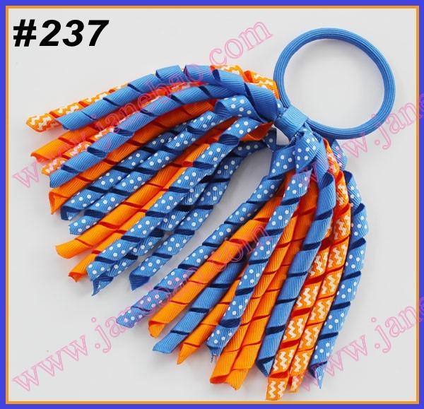 free shipping 200pcs mix color korker ponytail holders holder korker hair bows popular hair bows(China (Mainland))