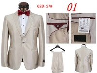 New 2014 Fall Men's Suits With Pants  Red Bow Tie Fashion Men Casual Men's sports suit (Jacket + Pants) Free Shipping Promotions