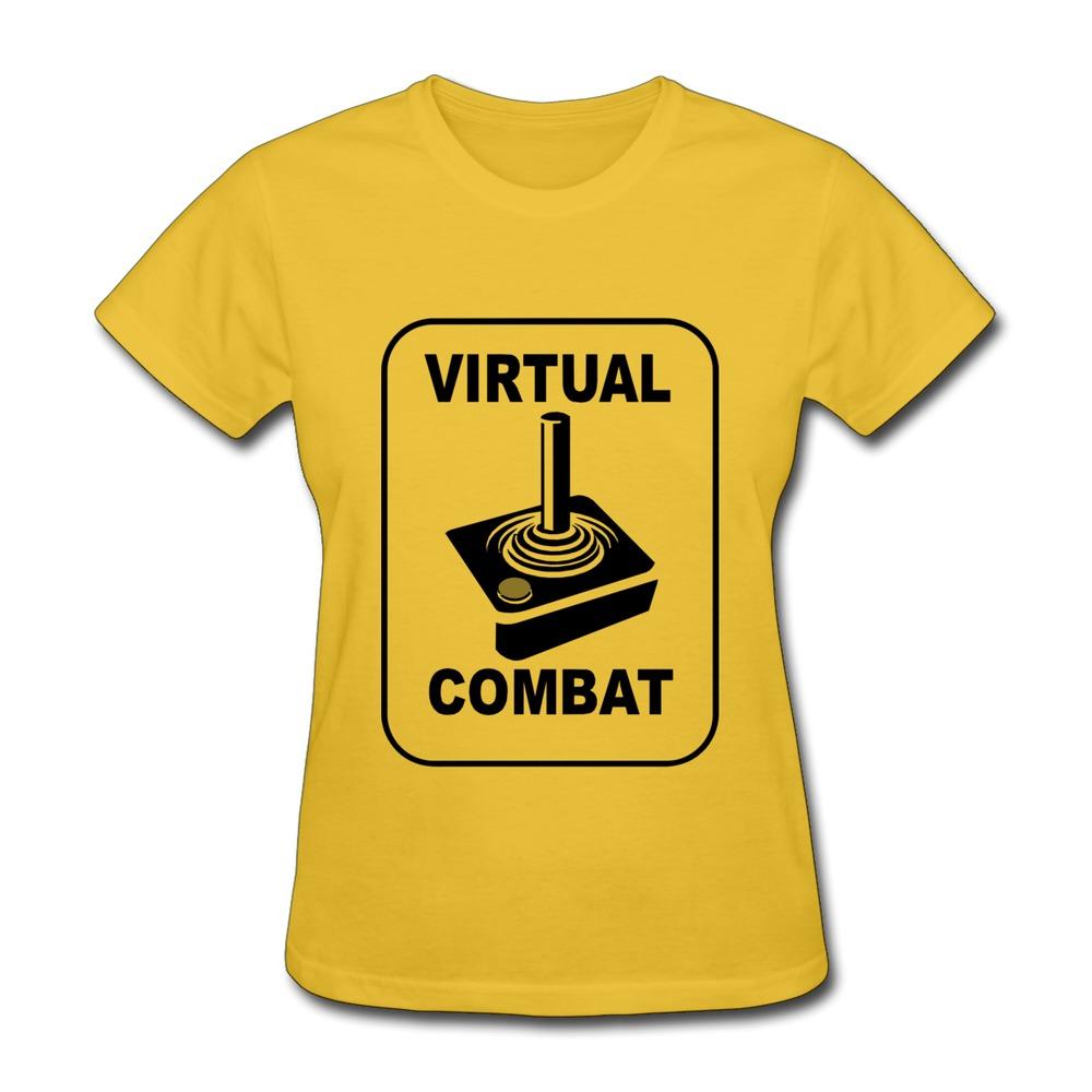 Customize 100% Cotton Women's T Shirt Virtual Combat t-shirt design Swag Women T-Shirts Top Rated(China (Mainland))