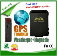 Waterproof gsm gps sim card tracker, Portable vehicle tracking device