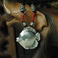 Yunnan Ethnic Tibetan jewelry long necklace fish shape women free shipping