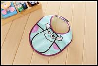 2014 Retail Baby Girl Boy Towel Saliva Waterproof New Kids Cartoon Monster Pattern Toddler Lunch Bibs Burp Cloths free Shipping