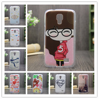 Transparent Side Silicone Soft Skin Gel TPU Print Shell Animated Cartoon Cover Case For Samsung Galaxy Core Lte G3518
