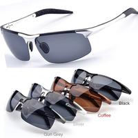2014 Top Polarized Driving Aviator Brand Designer Vintage Eye Glasses Oculos de sol Masculino Night Vision Men Retro Sunglasses