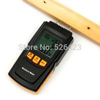 Digital LCD Moisture Meter Wood Timer Temperature Humidity Damp Detector Tester