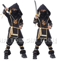 M~XL!! New Fantasia Martial Ninja Grim Reaper Halloween Cosplay Children Warrior Costumes Stage Suit Boy Kids Swordsma Costume