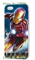 2014 fashion! Unique Newest Designs! Iron Man 3 Hard cover cases for iPhone5 5s 1PCS+ free shipping