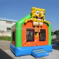 Wholesale - Crazy Price Christmas Gift Sponge smile bob Inflatable Bounce House Castle Toys children toys