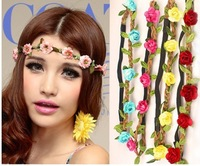 Wholesale 10PCS Free Shipping Wedding Party Beach Bride Flower Headband Garland Boho Girl Women Headdress Hairband