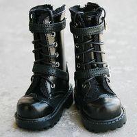 [wamami] 18# Black 1/3 SD17 BJD Dollfie Leather Boots/Shoes ~9.5cm