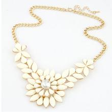 New hot Multilayer Flower Sunflower gem rhinestone choker necklace Fashion Sweater chain Statement jewelry for women