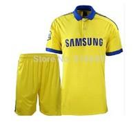 10set/lot 2014-2015 New seasons Chelsea away soccer Jersey LAMPARD TORRES ETO'O HAZARD WILLIAN OSCAR Jersey Embroidery logo