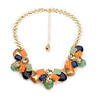 2014 Quality Colorful Choker Necklace Bib Necklace Summer necklace Fashion Jewelry  Min $20(can mix)  Free Shipping