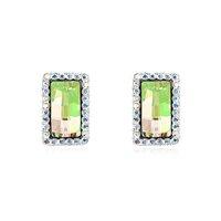 Fashionable Austrian Crystal La Luna Pattern Earrings - Multicolor