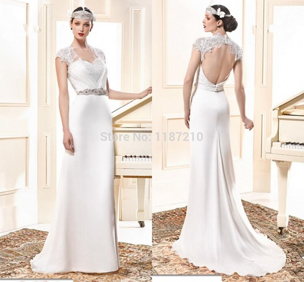 Casual vestidos de novia blancos