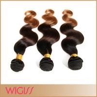 Brazilian Ombre Hair Fabulous Body Wavy Three Tone #1B/4/27 100% Human Hair Extensions Wigiss H6059AZ