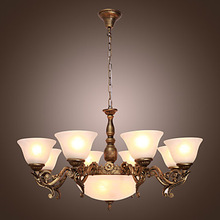 110V-220V  in Antique Style LED Chandelier with 11 Lights Chandeliers Home Lighting For Dinnig Living Room  Free Shipping(China (Mainland))