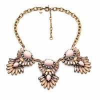 2014 Vintage Pink Crystal  Choker Necklace Party Necklace Summer necklace Fashion Jewelry  Min $20(can mix)  Free Shipping