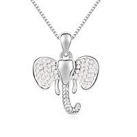 Fashionable Austrian Crystal Happy Little Elephant Pattern Necklace - Multicolor