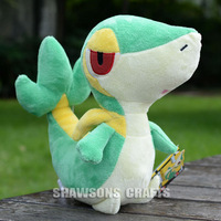 "POKEMON POCKET MONSTER CHARACTER PLUSH STUFFED TOYS 12"" SNIVY SOFT DOLL"